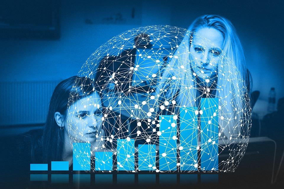 Businesswoman, Internet, Connection, International