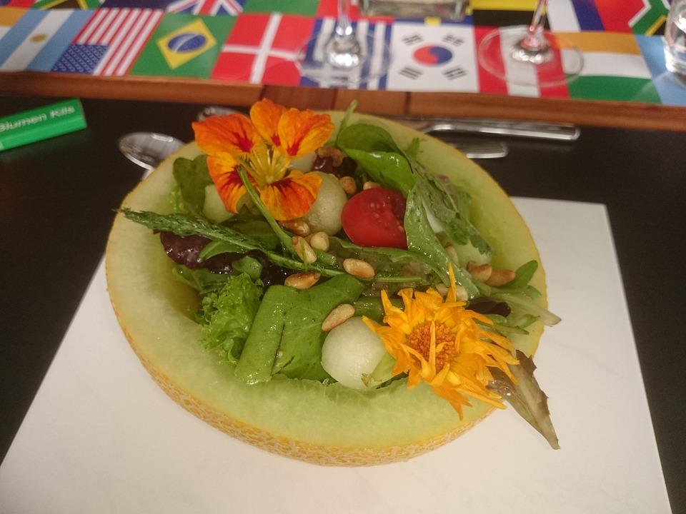 Melon, Salad, Simply, Colorful, International, Dessert
