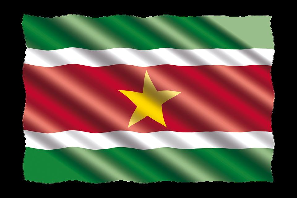 International, Flag, Suriname