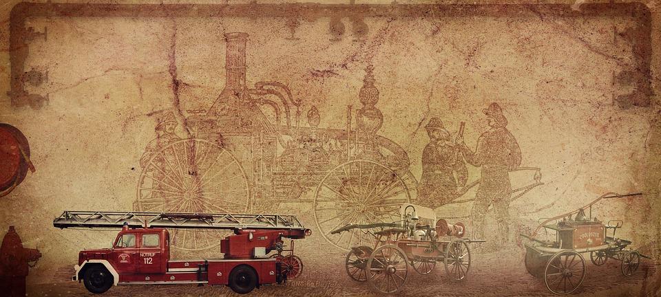 Fire, Fire Truck, Invention, Rotary Steam Machine