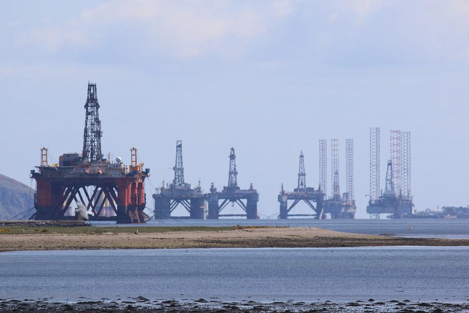 Oil Rig, Scotland, Cromarty Firth, Invergordon