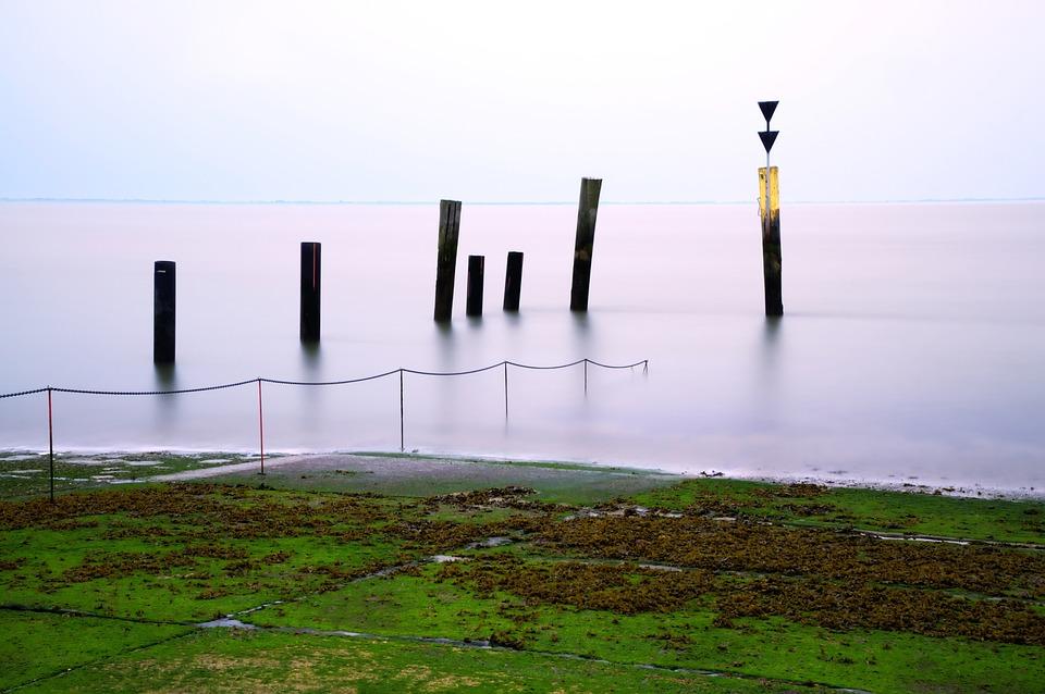 North Sea, Eckwarden, Sea, Investors, Pier