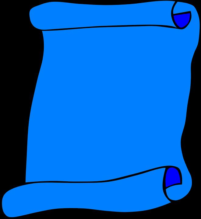 Scroll, Paper, Blank, Blue, Info, Invitation