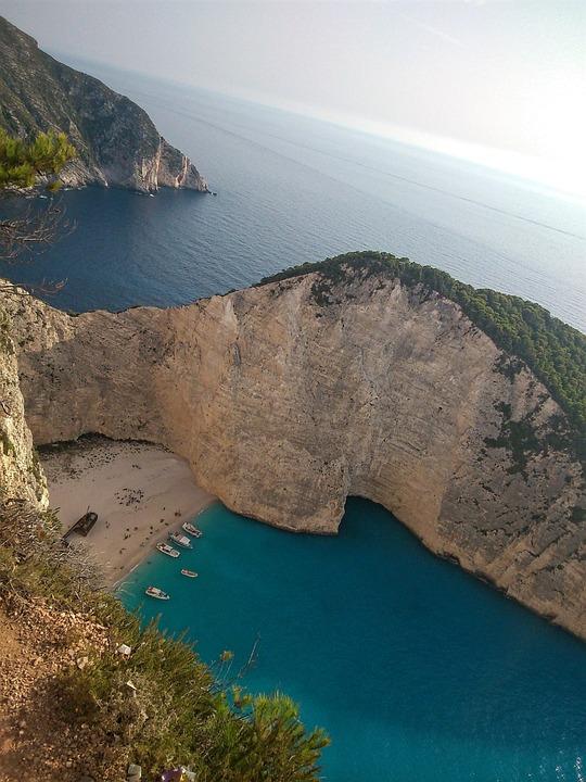 Greece, Zakynthos, Sea, Island, Ionian, Shipwreck