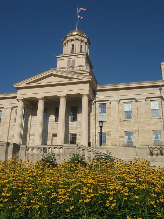 Building, Flowers, Iowa, Iowa City, Old Capitol
