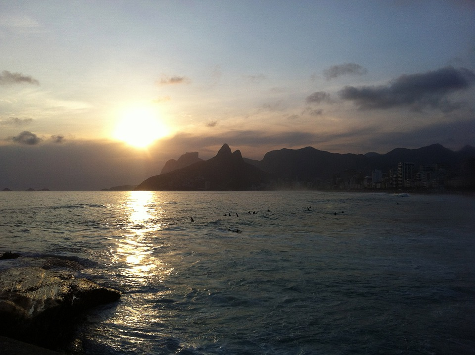 By, Sol, Ipanema, Sunset, Beach, Mar, Beira Mar