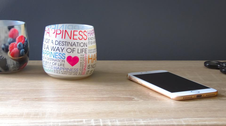 Iphone, Mock-up, Candle, Quotes, Happiness, Smartphone