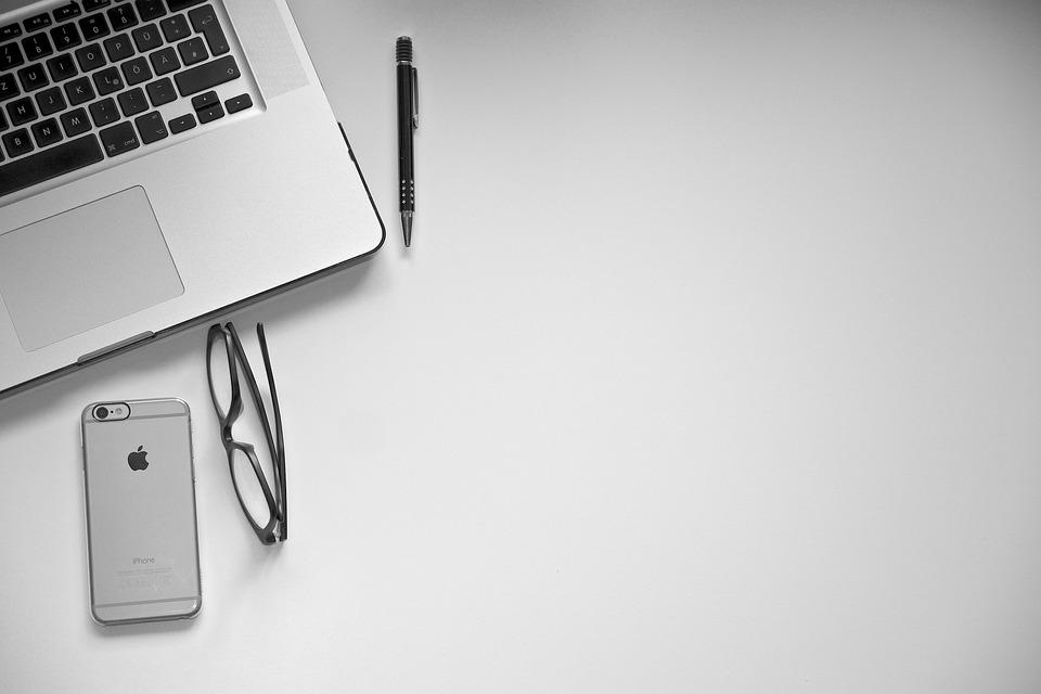 Desktop, Desk, Iphone, Workplace, Apple, Technology