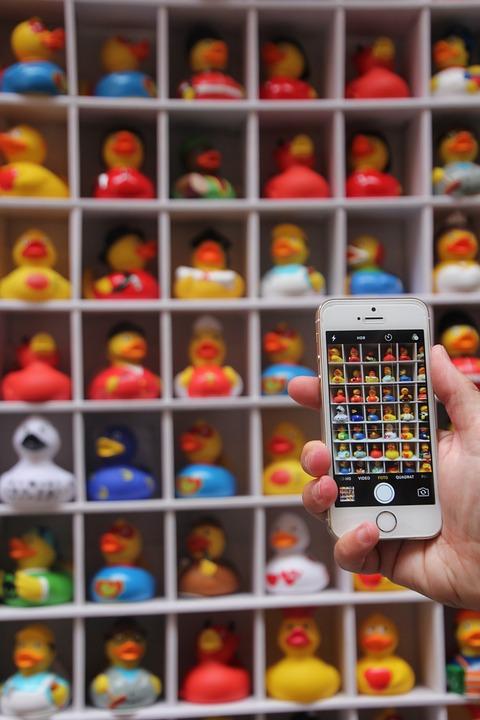 Photo, Ducks, Rubber Duckies, Iphone, Photograph