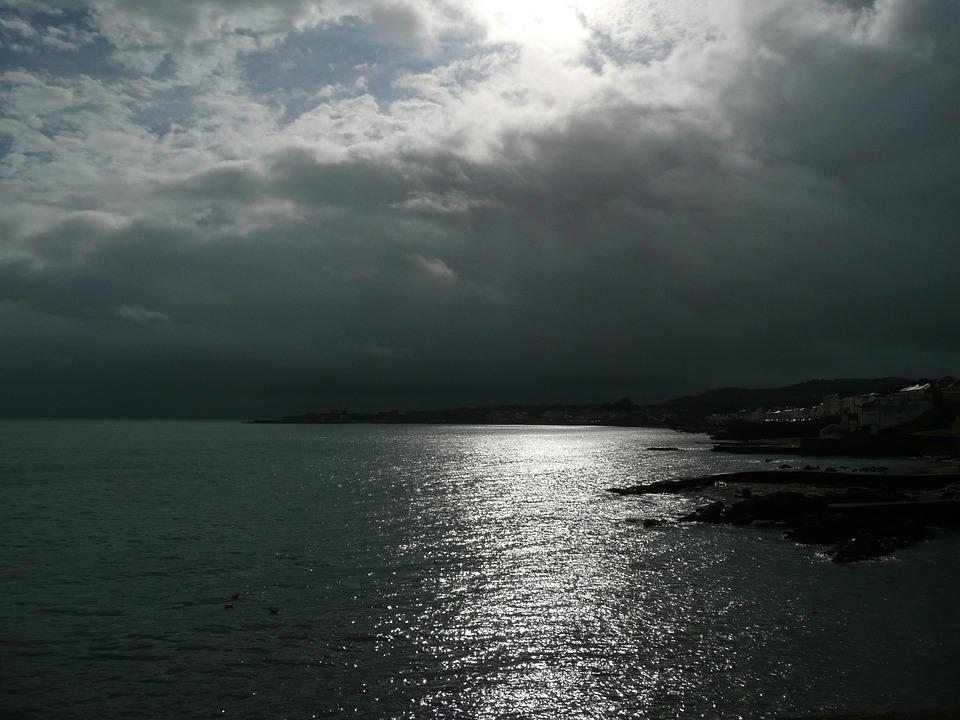 Dun Laoghaire, Ireland, Landscape, Ocean, Sea, Beach