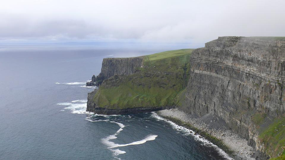 Moher, Ireland, Landscape, Cliffs, Coast, Sea, Ocean
