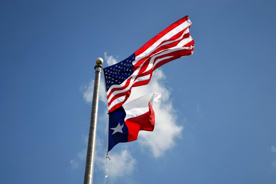 Texas Flag, American Flag, Houston, Texas, Irma Relief