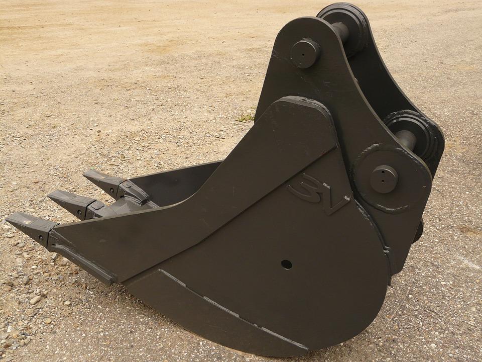 Backhoe Bucket, Blade, Iron, Metal, Technology