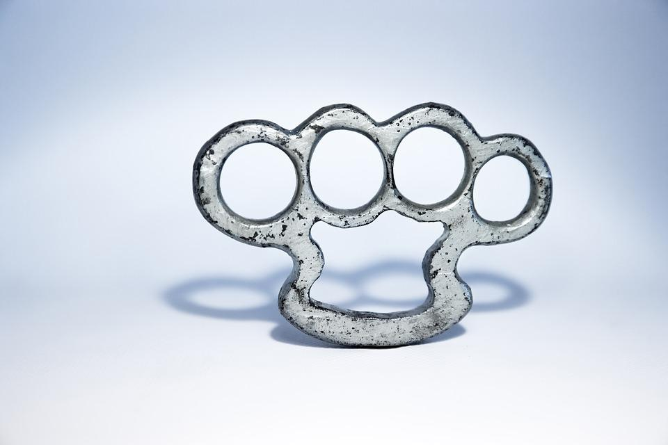 Brass Knuckles, Iron, Wrought, Weapons