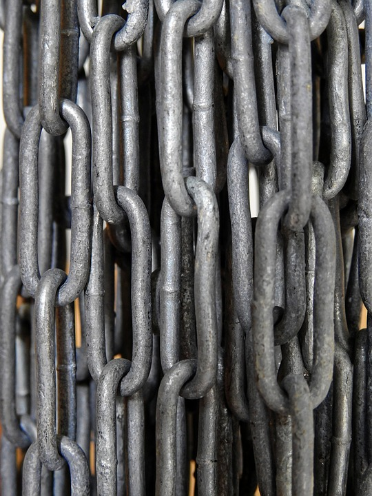 Chain, Metal, Iron, Links Of The Chain, Iron Chain