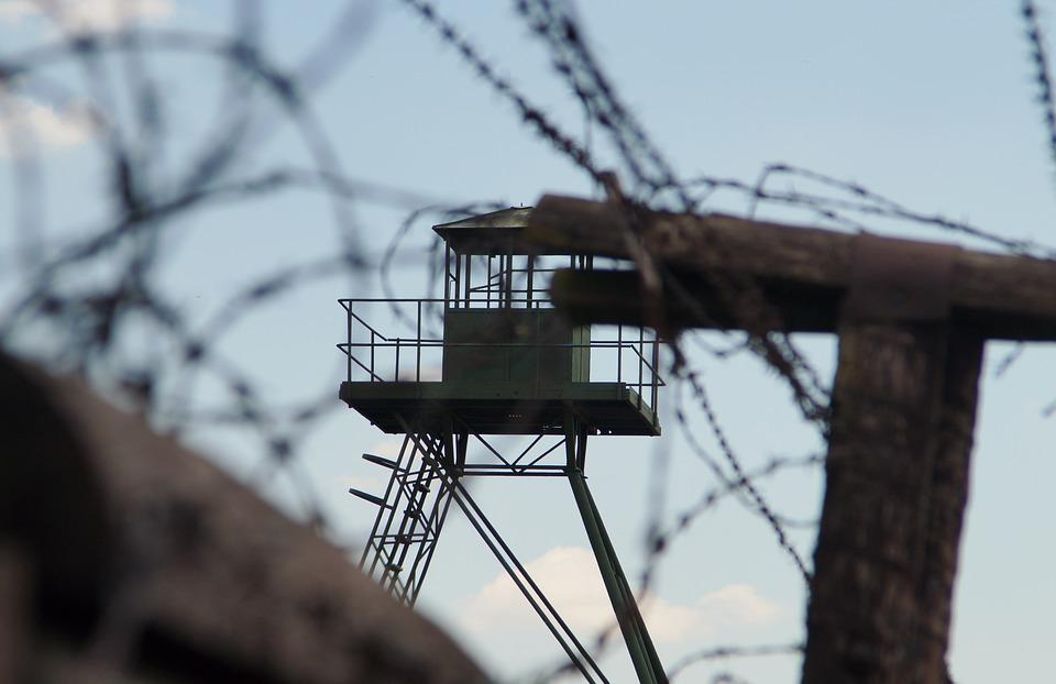 Wire, Sky, Iron Curtain, Barbed Wire, Guard Tower