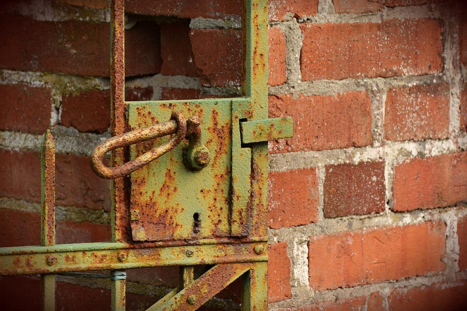 Old Gate, Castle, Rusty, Input, Rusted, Iron Door
