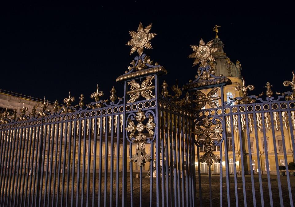 Castle, Charlottenburg Palace, Fence, Iron