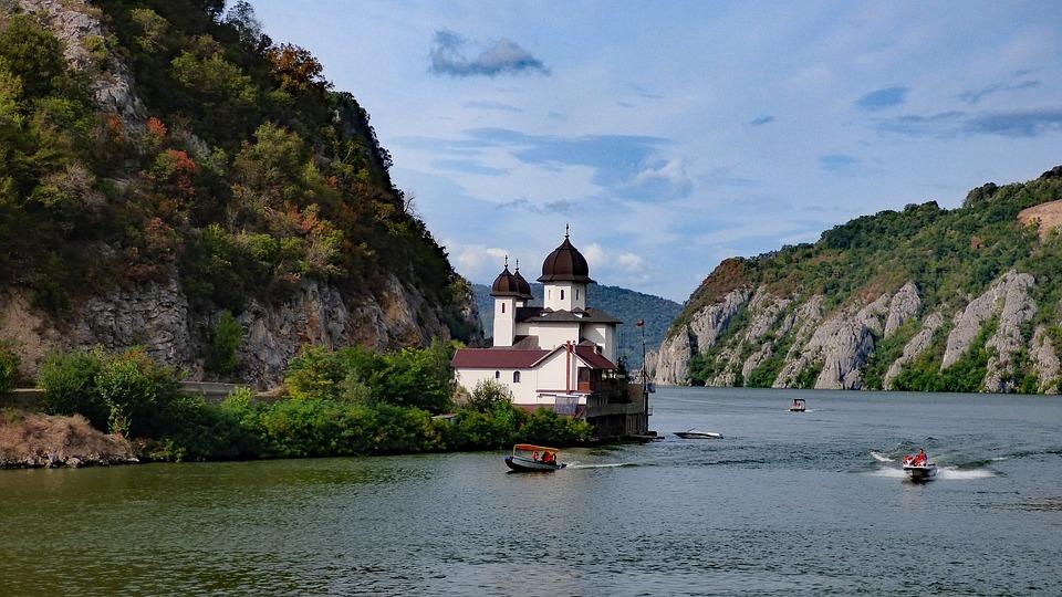Danube, Iron Gate, Mracuna, Monastery, River, Gorge