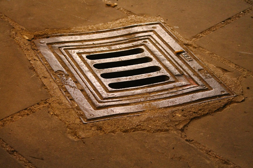 Manhole, Hole, Floor, Via, Stones, Drain, Road, Iron