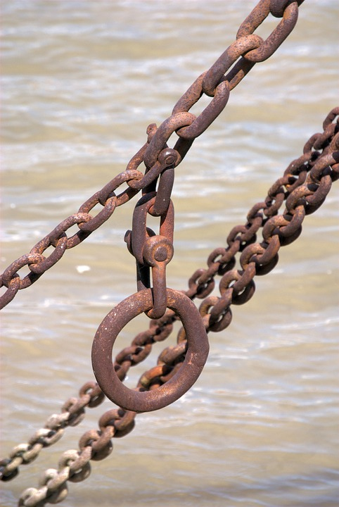 Chain, Rust, Weathered, Old, Iron, Metal
