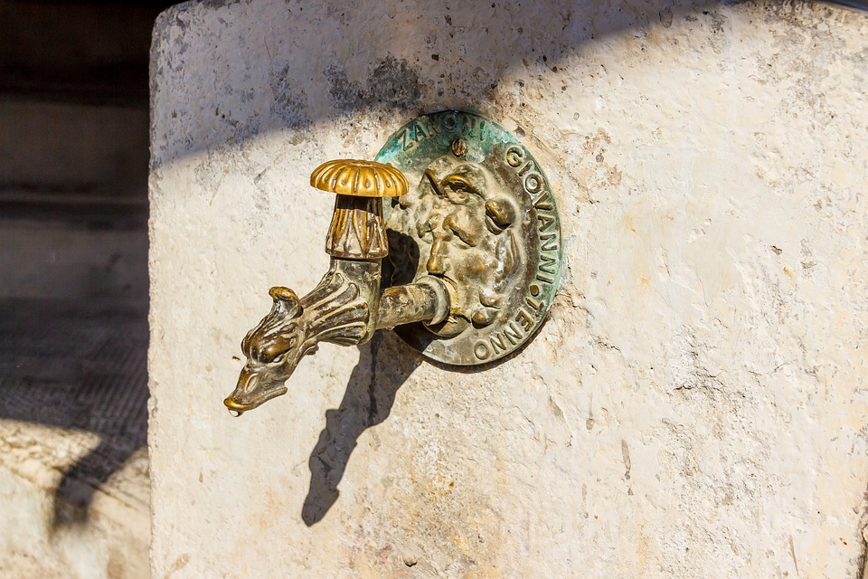 Faucet, Old, Metal, Drinking Water, Antique, Iron, Fig