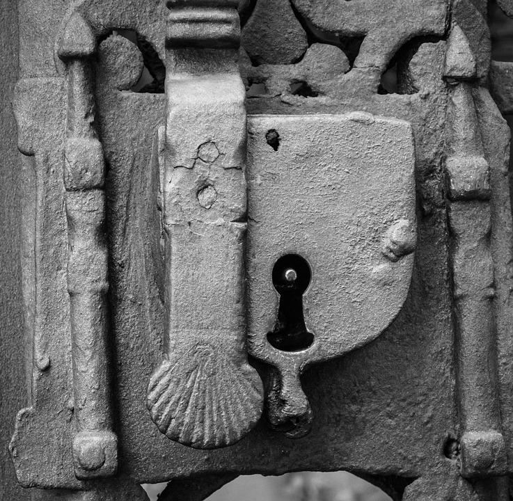 Padlock, Iron, Door, Symbol, Metal, Cast Iron
