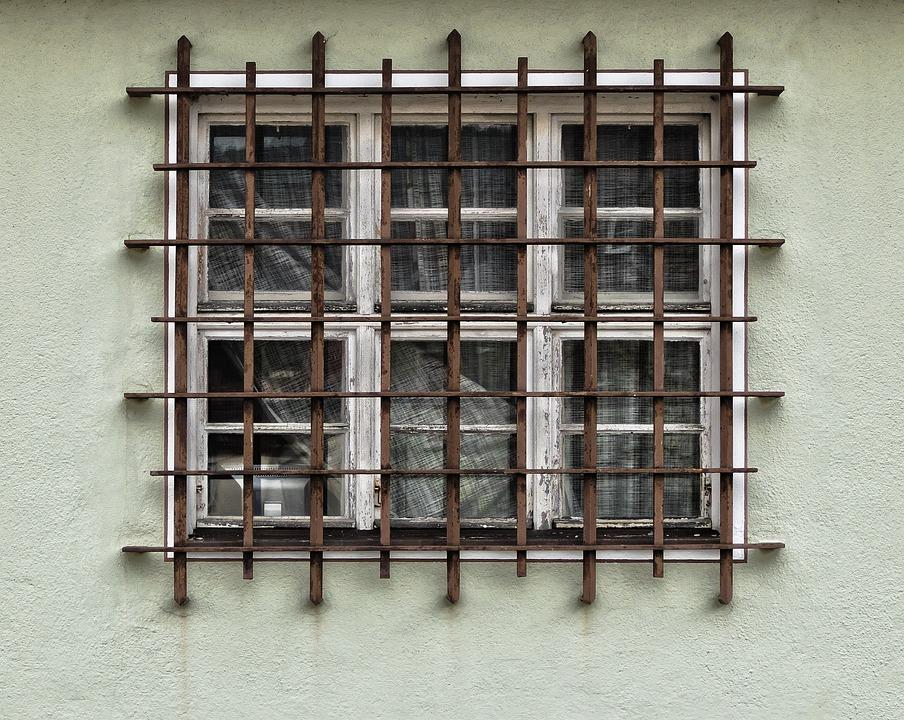 Facade, Grid, Window, Grate, Iron Railings