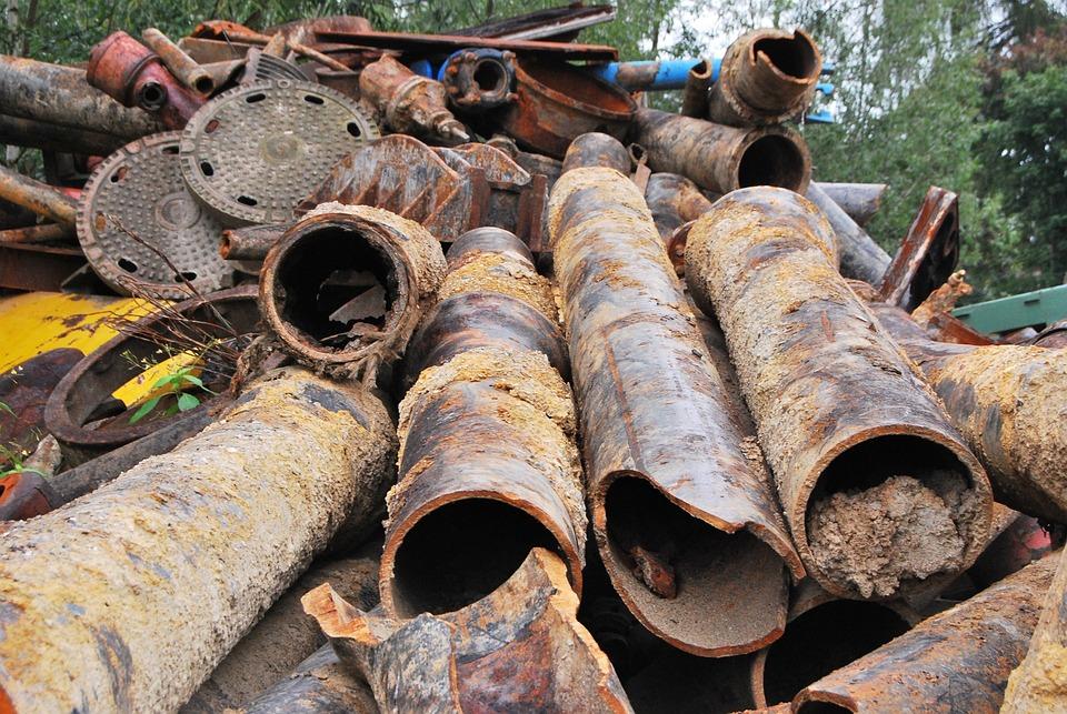 Scrap Iron, Metal, Pipes, Iron, Steel, Garbage