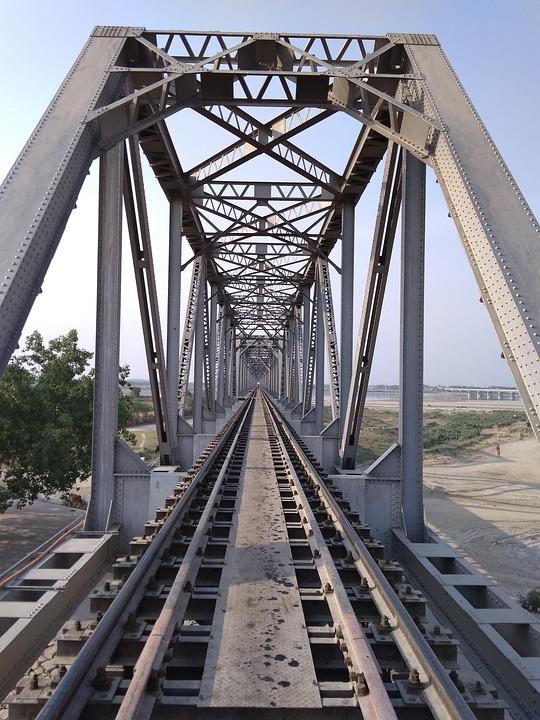 Bridge, Steel, Transportation System, Iron, Sky