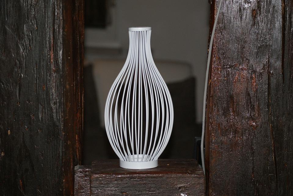 Vase, Metal, White, Iron, Shiny, Art, Surface, Artwork