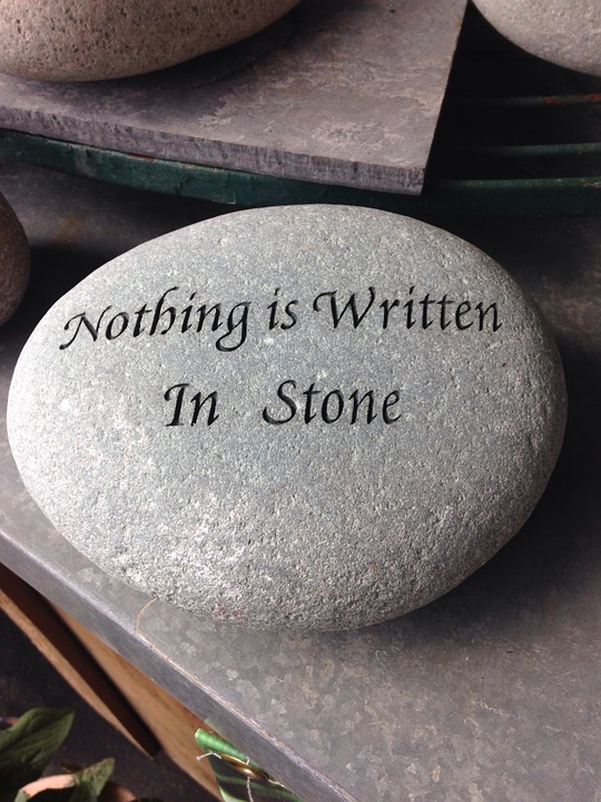 Nothing Is Written In Stone, Rock, Ironic, Irony, Humor