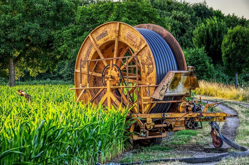 Hose Reel, Irrigation, Agriculture, Water, Large