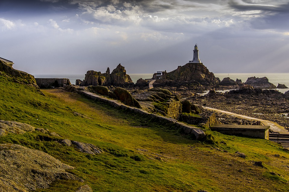 Jersey, Lighthouse, Scenic, Seaside, Bay, Island