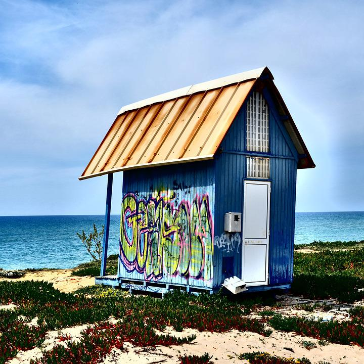 Beach, Island, Beach Hut, Seashore, Hit