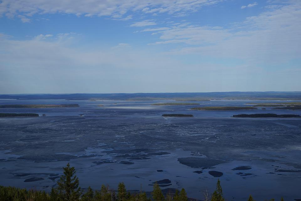 Lake, Ice, Island, Spring, Blue, Water, Nature