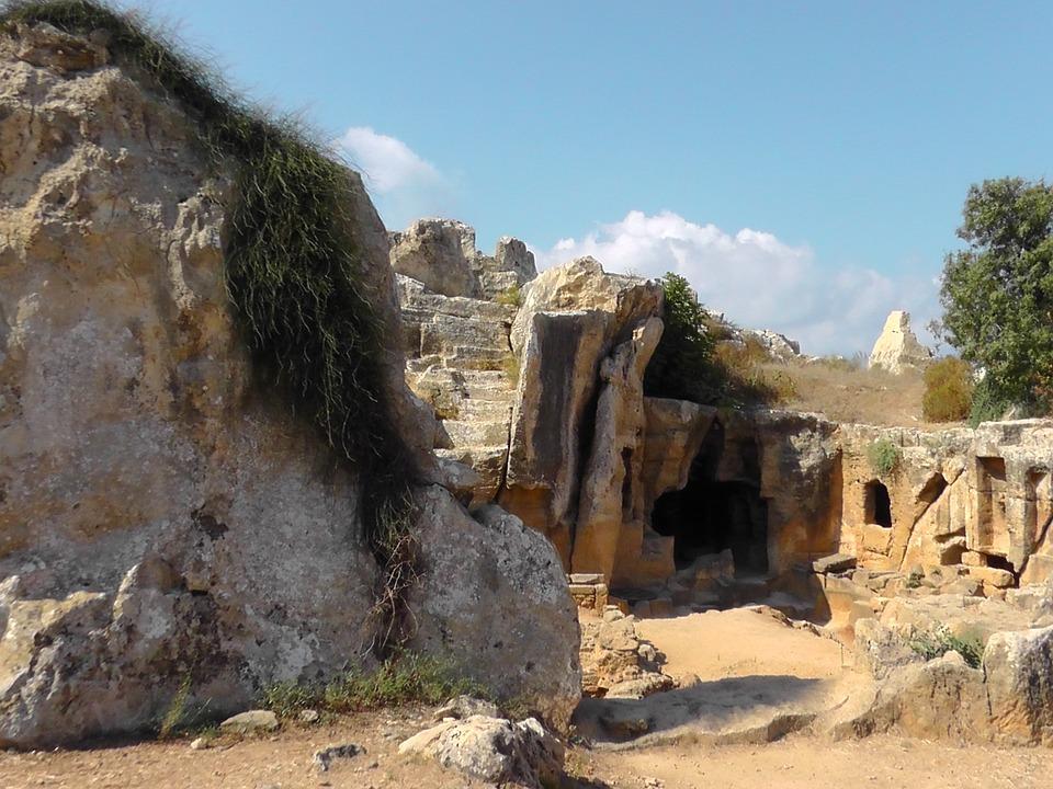 Ruins, Cyprus, Cave, Ancient, Island, Acropolis
