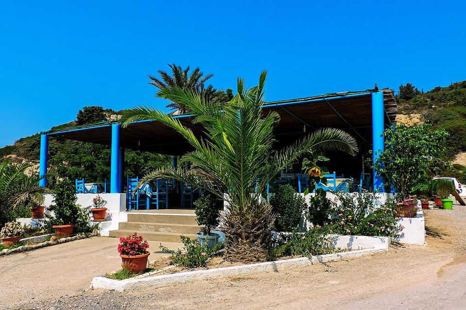 Kos, Island, Greece, Tavern, Restaurant, Bar, Chairs