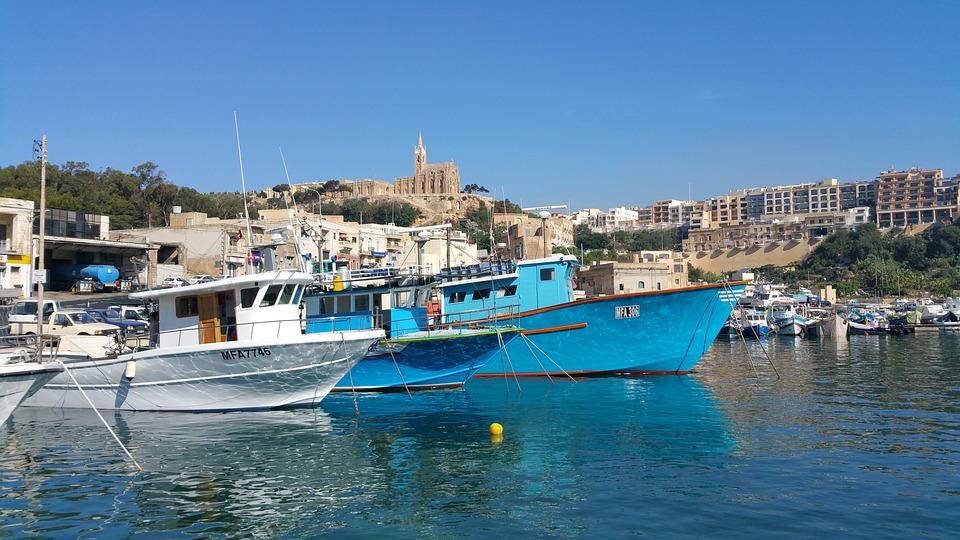 Gozo, Island, Port, Nautical