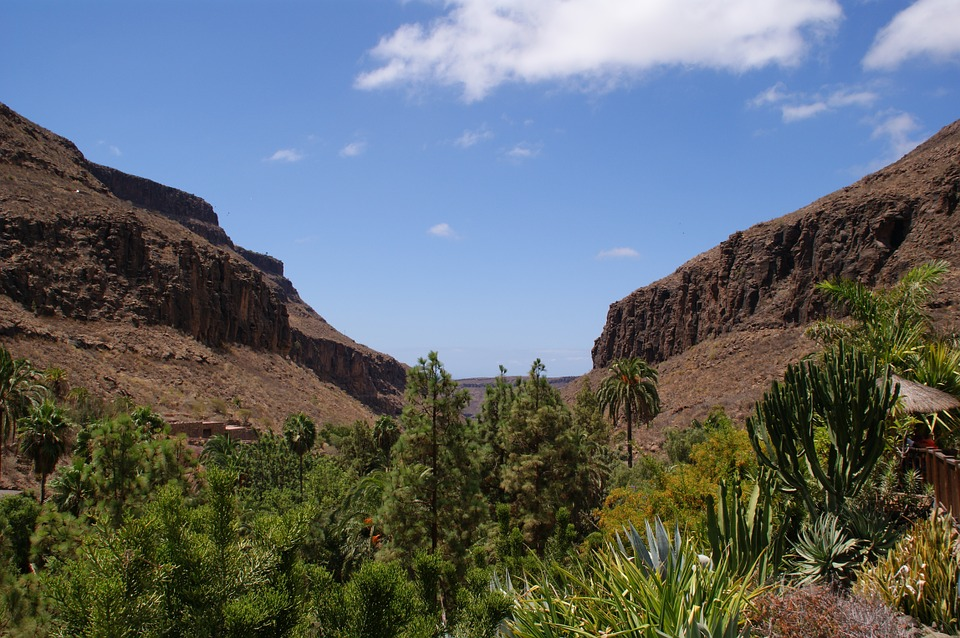 Island, Grand Canaria, Landscape, Area, Valley