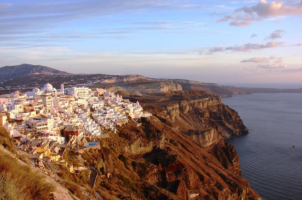 Santorini, Greek, Island, Vacation