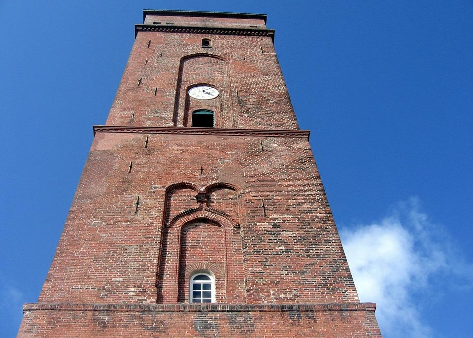 Old Lighthouse, High, Coast, Sea, Island, Seafaring