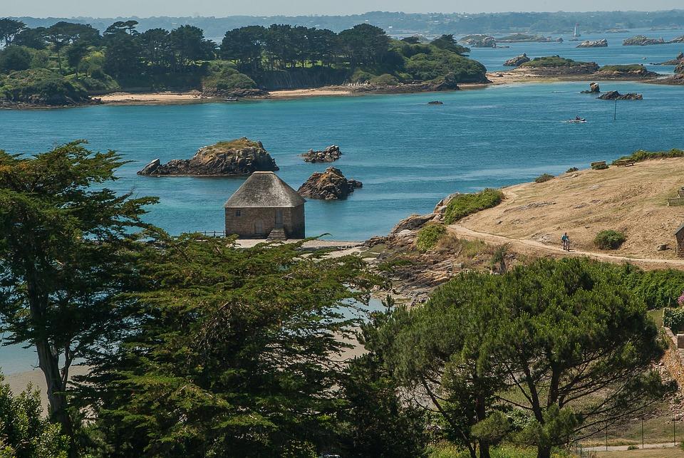 Brittany, Island, Bréhat, Mill, Tide