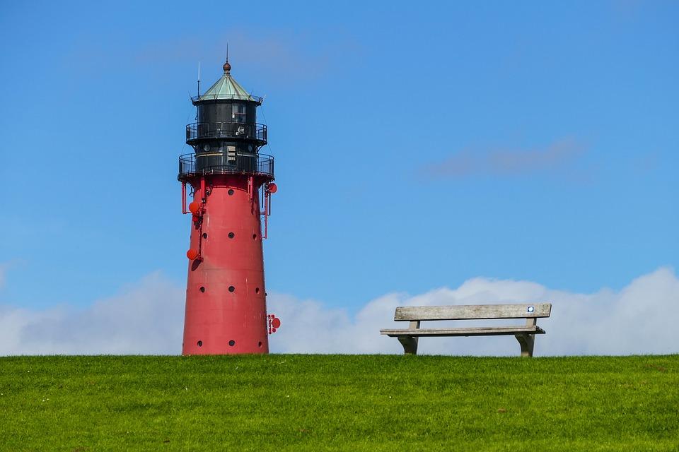 Lighthouse, North Sea, Pellworm, Wadden Sea, Island