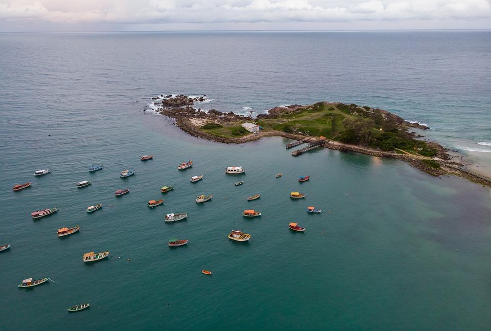Boats, Sea, Island, Ocean, Fishing Boats, Seascape
