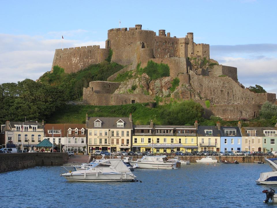 Castle Fortress, Góry, Island Of Jersey, Sea, Port