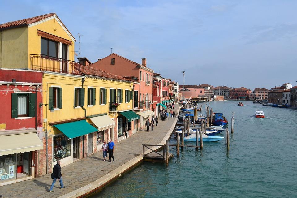Venice, Island Of Murano, Italy, Murano, Boat, Boats