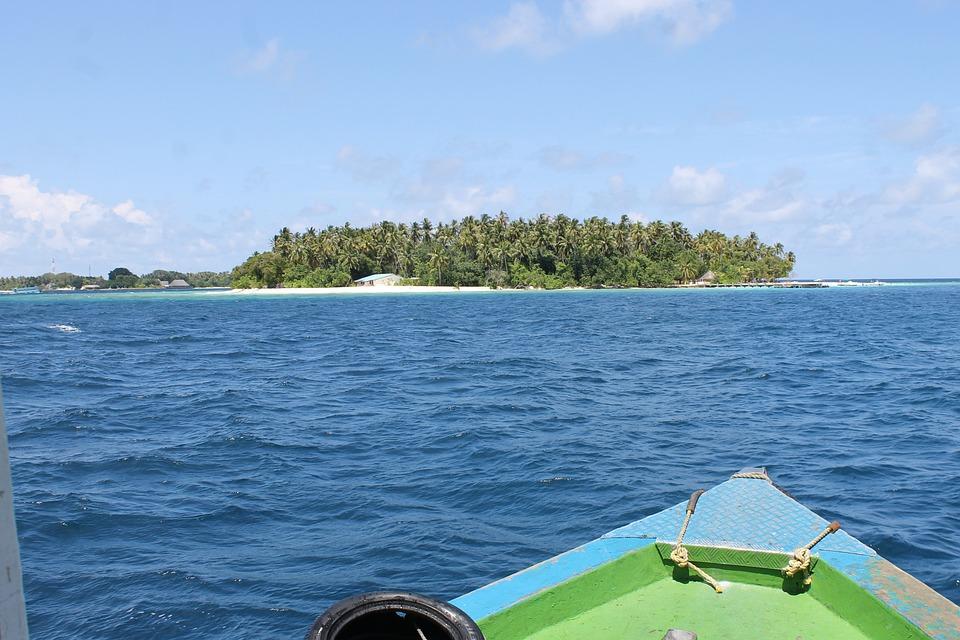 Maldives, Picnic Island, Island, Ocean, Boat