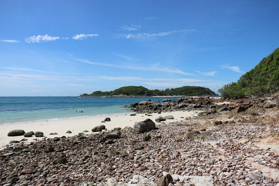 Thailand, Beach, Ocean, Sea, Shore, Rocks, Island