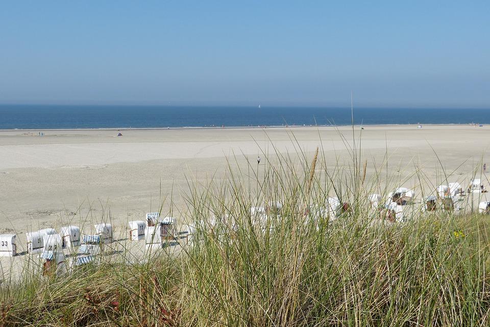 Island, Spiekeroog, Beach, Sand Beach, Summer, Sky